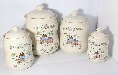Heartland Kitchen Canisters International China Stoneware Set of 4