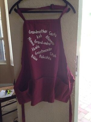 Apron Brand New Multi Languages One size fits all WINE