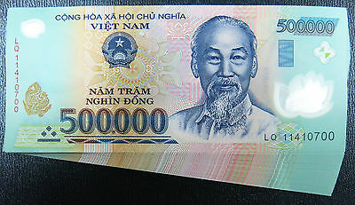 Vietnam 500,000 X 6 Pieces (PCS) = 3 Million Dong Currency VND Banknotes