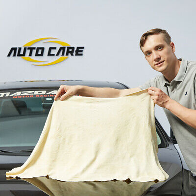 60x90cm Large Natural Leather Chamois Car Drying Towel Absorbent Cleaning Cloth