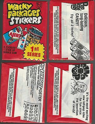 1979 WACKY PACKAGES :  All 3 Different 1979 1st Series Unopened Wax Packs