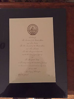 Jimmy Carter Inagural Party Invitation