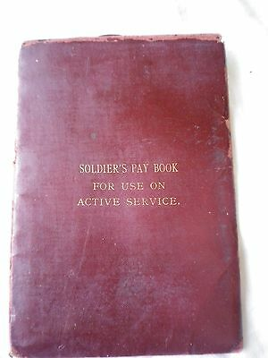 Australian WW1 Active Service pay book cover. AIF.