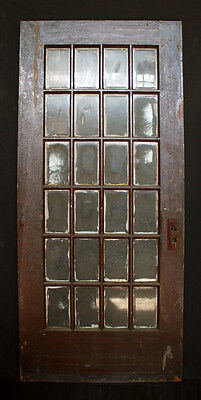 "35""x 80"" Antique Exterior Entry French Oak Door 24 Beveled Glass Lites"