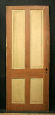 "6avail 29-30""W Antique Victorian Interior Wooden Pine Wood Doors 4 Raised Panel"