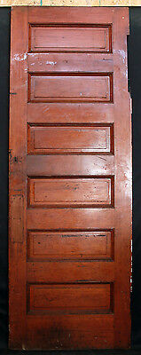 "31""x89""x1.75 Antique Interior Solid Wood Wooden Door Stacked Raised Ladder Panel"