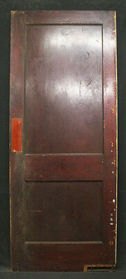 "32""x 80"" Antique Interior Pine Wood Wooden Swinging Door 2 Recessed Panels"