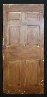 "2avail 37""x77"" Antique Colonial Interior Solid Wood Door 6 Raised Panel Hardware"