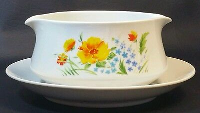 "Imperial China ""Just Spring"" Dbl Gravy Boat w/Attached Underplate*MINT*"