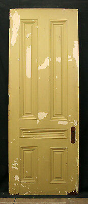 """2 avail 30""""x82""""x1.75"""" Antique Victorian Solid Cherry Wood Interior Doors 5 Panel"""
