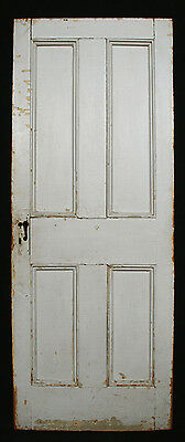 "27""x 68"" Antique Victorian Interior Heart Pine Closet Pantry Door Flat Panels"