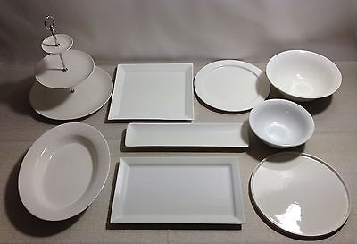 White Porcelain Table Serving Ware Some Maxwell & Williams Platters Plates Bowls