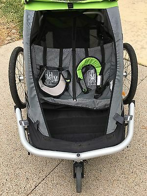Croozer 535 3-in-1 Kid for 2 Bicycle Trailer and Stroller Green