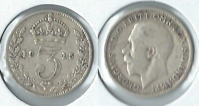 1915 Great Britain threepence silver coin