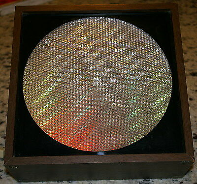 Vintage 1960's - 1970's Psychedelic Hippie  Motion Lamp Light Wood Box