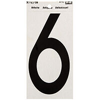 NUMBER HOUSE 6 5IN REFL BLK    per 10 CD