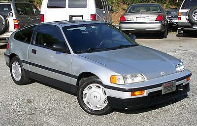 1989 Honda CRX Si A GEM SEE 100 PICS TURN KEY SERVICED INSPECTED A-100%-ALL-STOCK-ZERO-RUST-CA-CAR-5-SPEED-1.6L-PWR-SUNROOF-SHARP-ALLOY-HATCHBACK