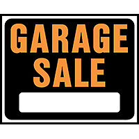 SIGN GARAGE SALE JUMBO PLAST   per 5 EA