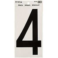 NUMBER HOUSE 4 5IN REFL BLK    per 10 CD