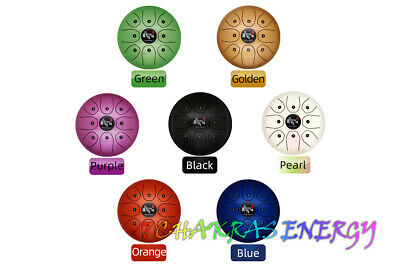 """8"""" steel tongue drum with 8pcs Pentatonic musical note include bag"""