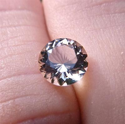 AUTHENTIC 1.45 Carat - Faceted Herkimer Diamond from NY - 7mm Round Cut - AAA