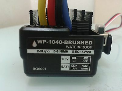 HOBBYWING WATER PROOF 60 AMP Brushed RC ESC For UP TO 3S lipo-TAMIYA END
