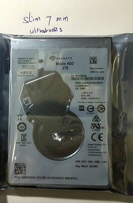 2.5'' inch 2TB internal PS4 Mac laptop notebook hard disk drive HDD Seagate 7mm
