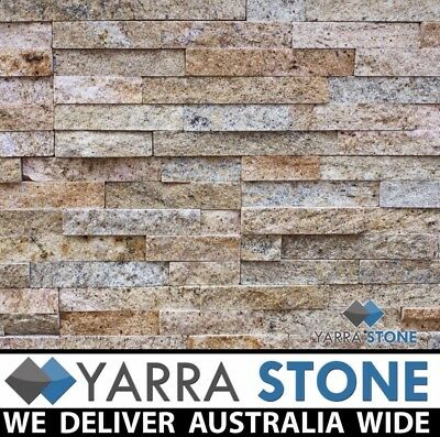 Stack stone / Natural Stone wall Cladding / Stacked Stone - Sparkly Beige