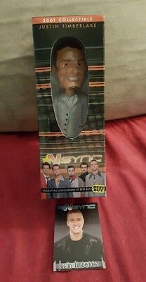 Justin Timberlake Collectable Bobble Head N Box Certificate Auth Music NSYNC Toy