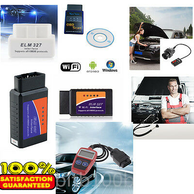 ~ELM327 OBD2 Car Diagnostic Scanner CAN-BUS Bluetooth/WiFi for iPhone ANDROID~~W