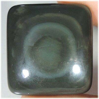 116.90Cts 100% NATURAL EYE DESIGNER RAINBOW OBSIDIAN CUSHION CABOCHON GEMSTONES