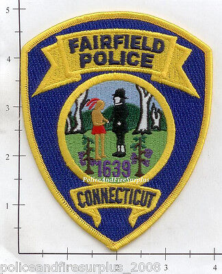Connecticut - Fairfield CT Police Dept Patch  Fully Embroidered