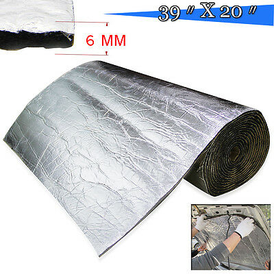 "39.3x20"" Firewall Sound Deadener Car Heat Shield Insulation Deadening Material"