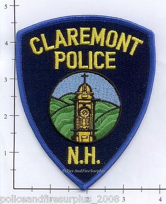 New Hampshire - Claremont NH Police Dept Patch v2 - Blue border