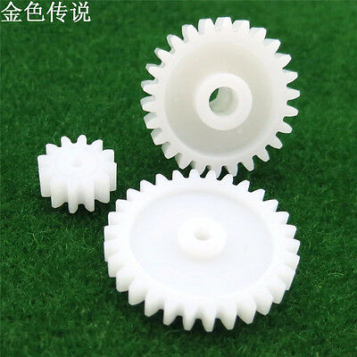 M1 Plastic Gear 12 Teeth 30 Teeth 26t Reducing Nylon Gears Spur Hole 3mm for DIY