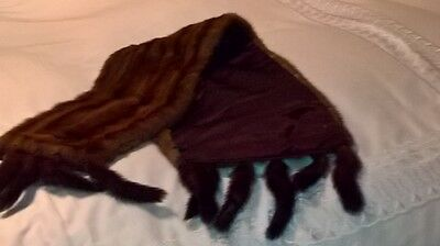 Ladies Vintage Mink Stole with tails
