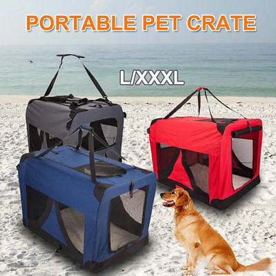 Portable Foldable Pet Soft Dog Cat Carrier Crate Travel Cage Kennel L/XXXL AU