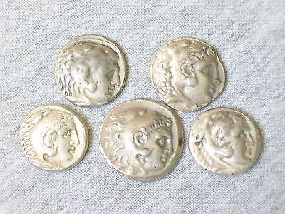 Lot 5 Reproduction Greek Macedonian Alexander The Great Silver Tetradrachm