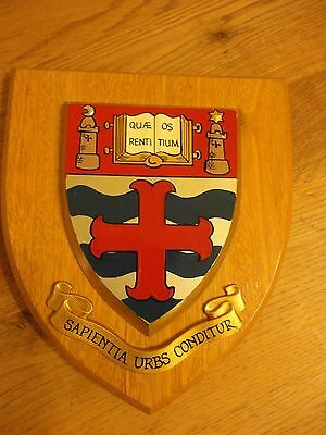 University of Nottingham Coat Of Arms Plaque/Shield/Crest
