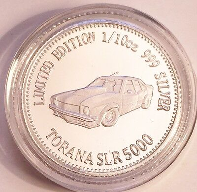 NEW Torana SLR 5000 MCS1 Certified 1/10th Oz 999.0 Pure Silver Bullion Coin