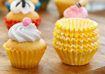 50pcs Colorful Dots Dessert Cream Baking Muffin Cupcake Cup Toppers Favor Party