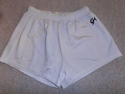 New GK  White  Gymnastics Cheer Dance Shorts Adults XSmall AXS