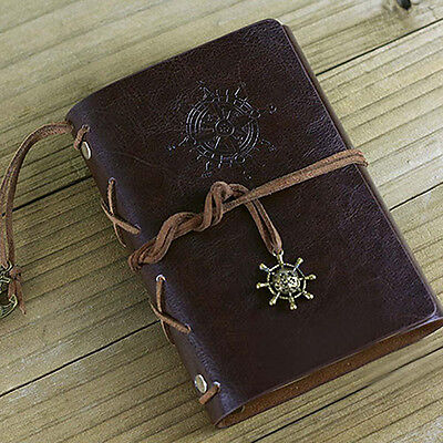Retro Helm String Faux Leather Journal Travel Blank Diary A5 Notebook Reliable