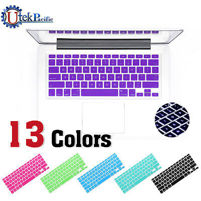 """2x Colourful Soft Silicone Keyboard Cover for Apple MacBook Air 11 11.6"""""""