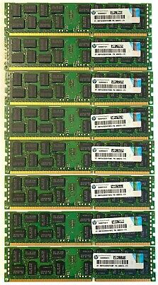 HP 64GB (8x8GB) 500205-071 PC3-10600R ECC DDR3-1333MHz Proliant G6 G7 Gen8