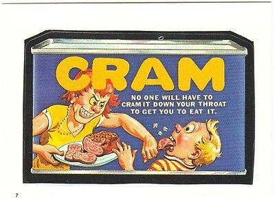 """1986 Wacky Packages Album Series Sticker """"cram"""" #7 Only 99 Cents"""