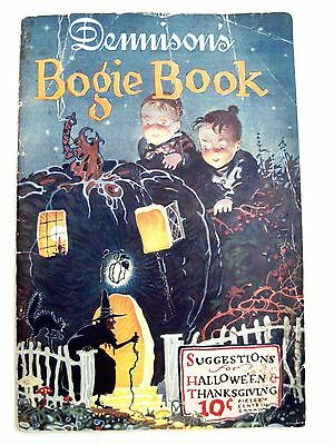 "RARE Vintage Halloween ""Dennison's Bogie Book"" w/ Bright Faced Children  *"