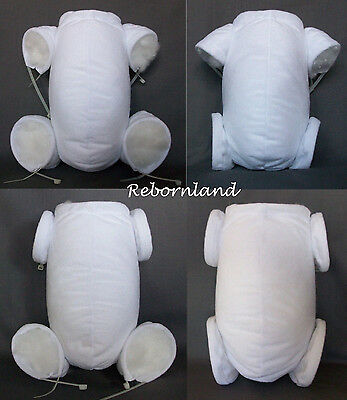 "REBORN BODY - DOE SUEDE - IN MULTIPLE VARIATIONS - WHITE COLOUR - 10"" to 22"""