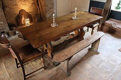 French FARMHOUSE Country large DINING KITCHEN TABLE - solid oak
