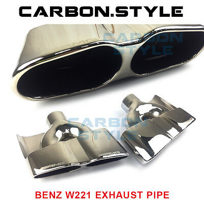 2007-2013 For Mercedes-Benz S-Class W221 S63AMG Style Exhaust Pipe